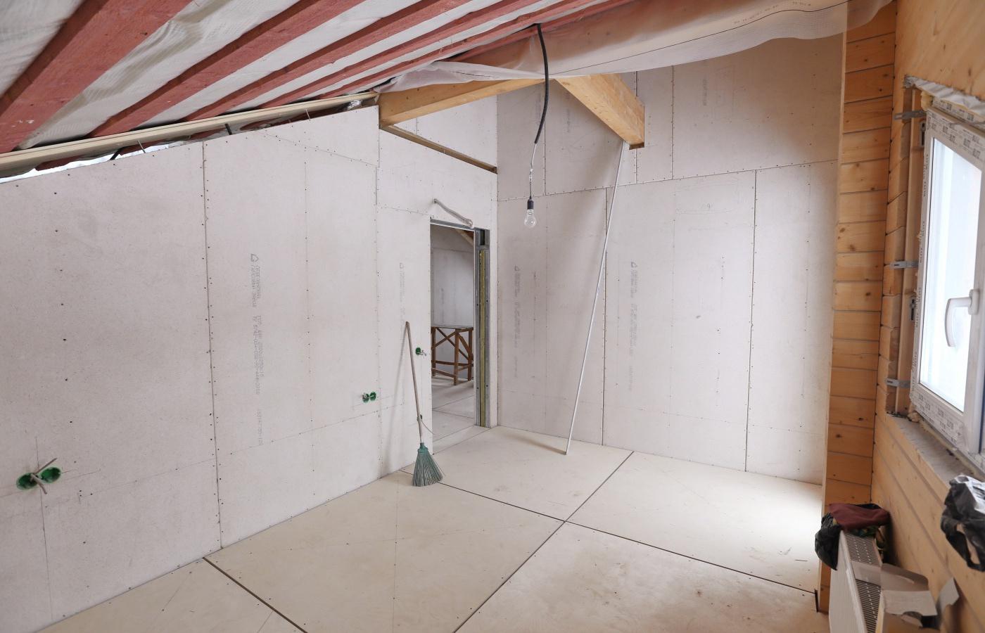 отделка деревянного дома изнутри гипсокартоном
